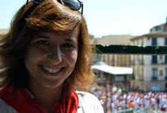 Casandra Rodríguez, presidenta de Nuevas Generaciones de Navarra