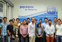 NNGG de Navarra inicia el nuevo curso político con la presentación de su página web y la presencia del Secretario General Nacional