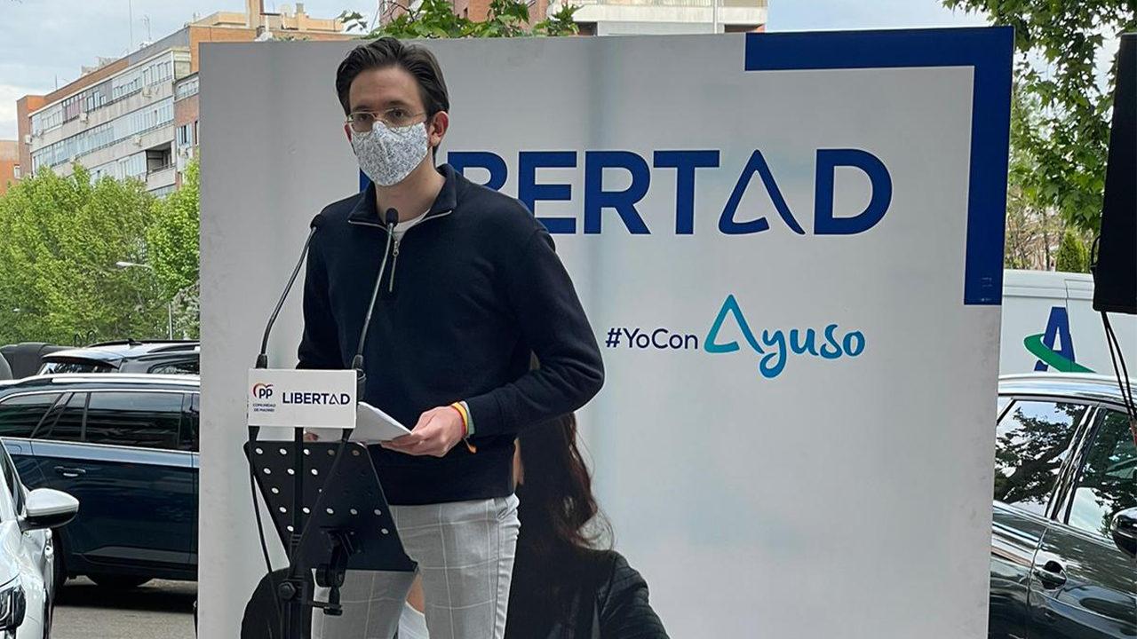 Nuestro compañero Alberto apoya la Libertad en Madrid